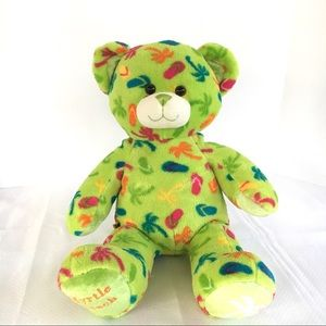 Build-A-Bear MYRTLE BEACH Green TEDDY Bear Plush